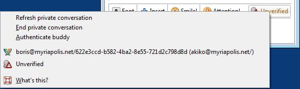 보안 메신저 OTR + Pidgin #27