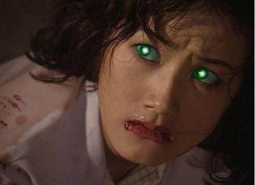 인기 드라마 [M](1994)에서 '눈 레이저'로 화재를 모은 심은하 ⓒMBC