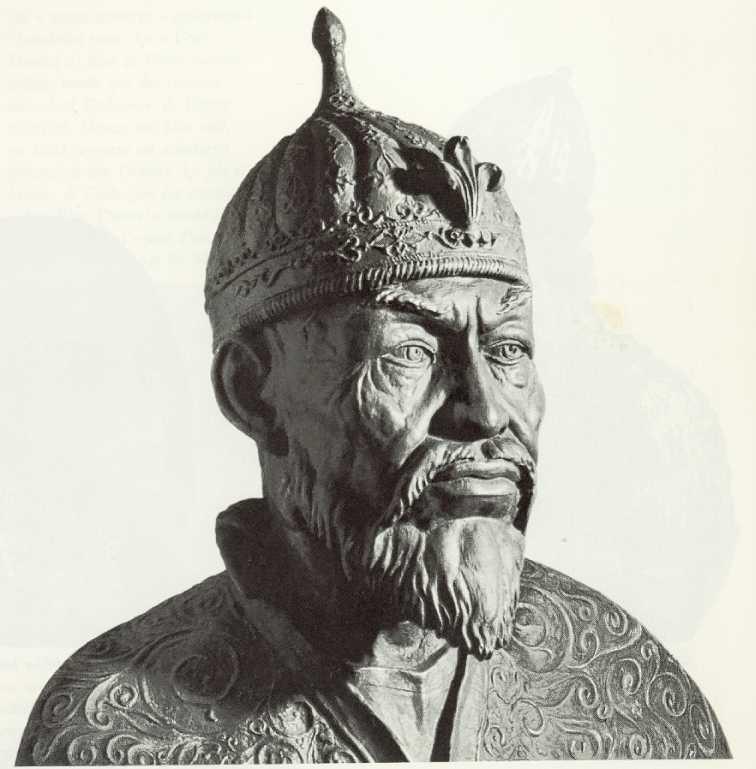 소련 학자 미하일 게라시모프가 티무르의 두개골을 토대로 복원한 흉상. '위대한 티무르 '가 죽자 중앙아시아에는 혼돈이 찾아온다.
