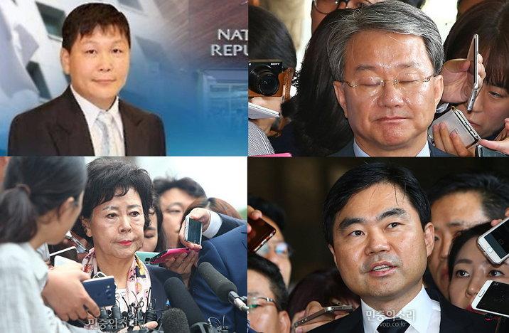 정운호 홍만표 진경준 신영자 (왼쪽 위부터 시계방향)