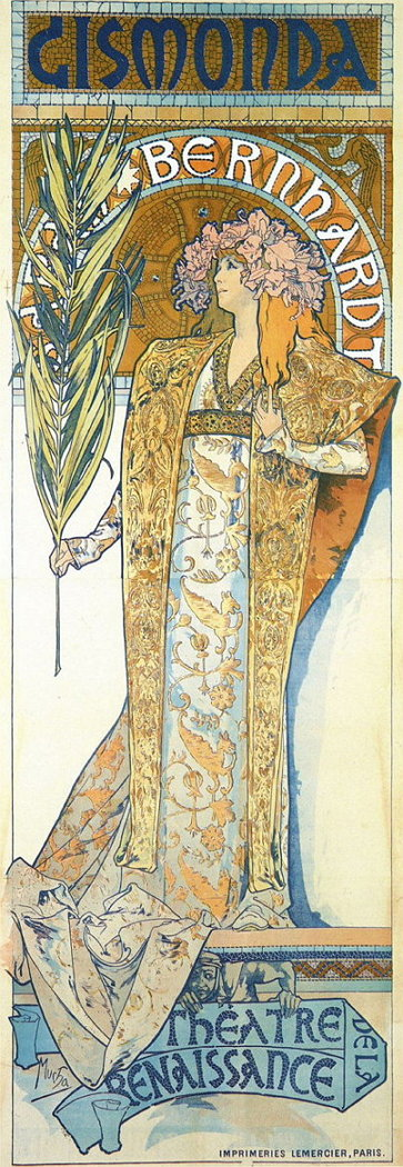 1895, 알폰스 무하 [지스몬다] 포스터