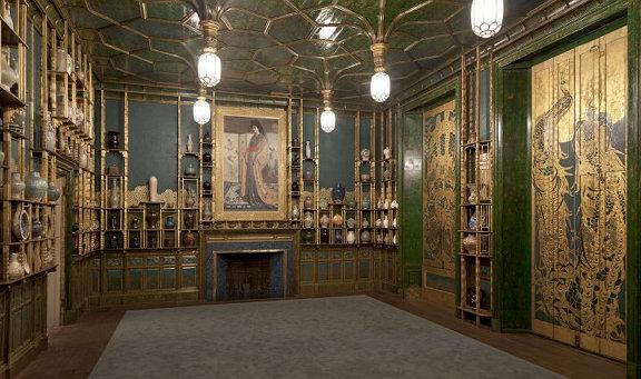 제임스 휘슬러의 실내디자인[공작새의 방], 1877년