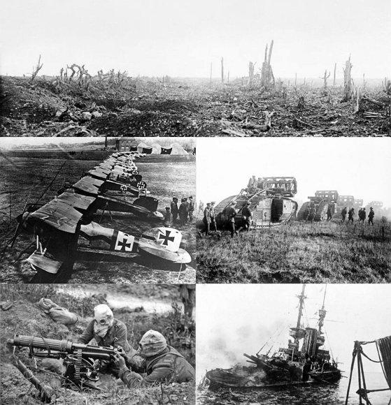 인간의 기계문명이 최초로 자신에 대한 전 지구적 대량 살상을 가져온 첫 번째 체험, 제1차 세계대전.