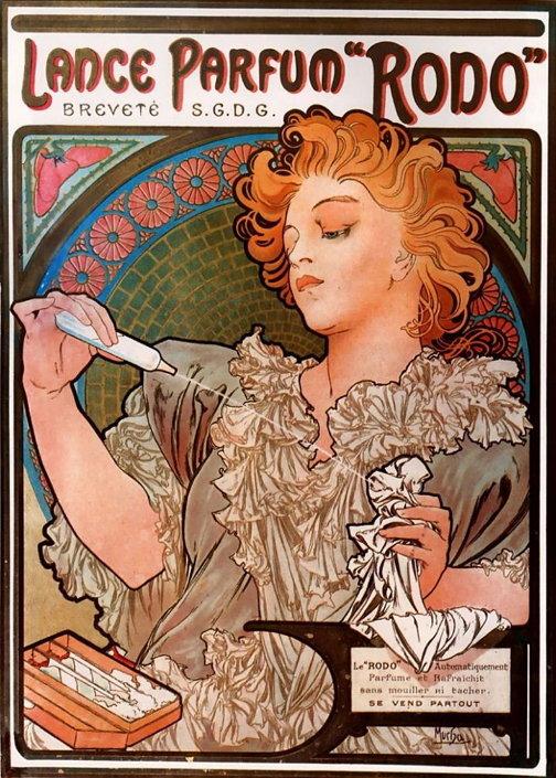 알폰스 무하의 로도 향수 광고 포스터, 1896년