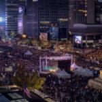 박근혜 하야 촛불집회 2016년 11월 12일 13일 새벽 촬영