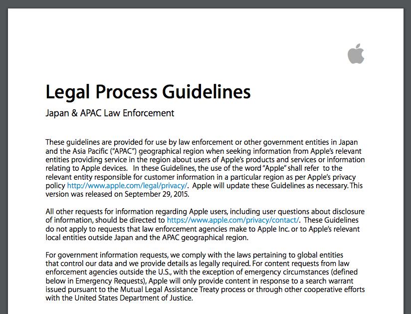 법 집행 가이드라인
