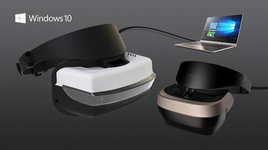 마이크로소프트 윈도우 10 헤드셋. 300달러대에 쏟아질 전망이다.