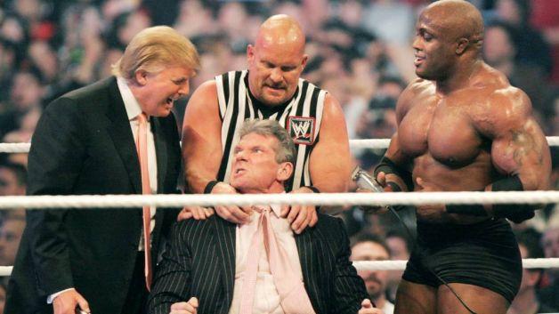 WWE에서 한창 날리던(?) 시절의 트럼프 ⓒWWE
