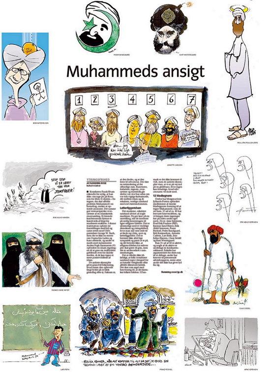 윌란스 포스텐이 발행한 무함마드 만평은 결국은 아랍 국가들의 덴마크 대사관 폐쇄와 이슬람 세계의 소요 사태로 번졌다.