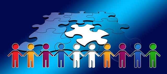 협력 협동 나누기 셰어링 협치 퍼즐