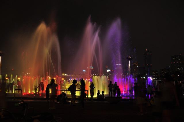 서울 밤 도시