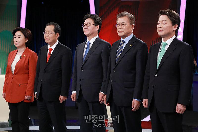 19대 대선 2차 TV토론회 (사진 제공: 민중의소리)
