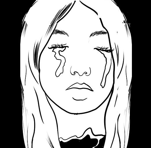 눈물 소녀 절망 슬픔