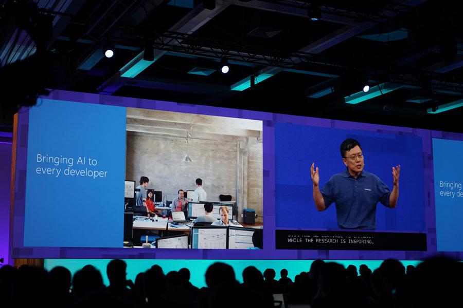 마이크로소프트는 인공지능을 모든 개발자 생태계로 확장하고자 하는 의지를 내비쳤다.