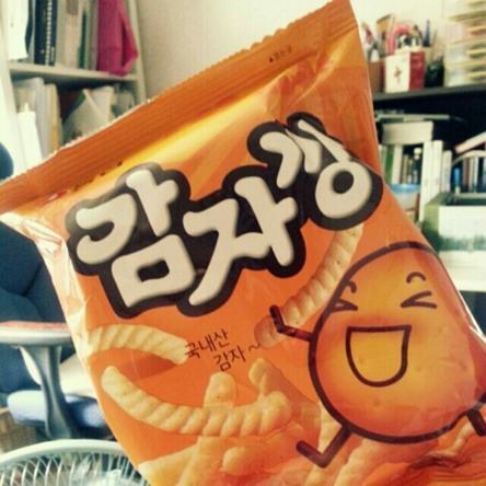 학생에게 선물 받았던 감자칩