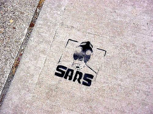 """후진타오는 '사스' 사태를 정치적 돌파구로 활용한다. (출처: Karen Hoffmann, """"sars"""", CC BY NC ND) https://flic.kr/p/s3C5Q"""