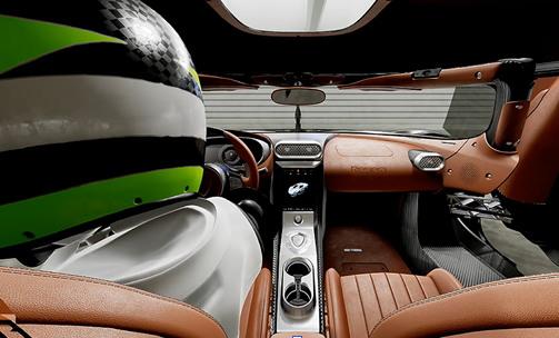 실제 코닉세그레제라에 탑승한 것 같은 상태에서 차량 내부나 외부를 점검할 수도 있다.