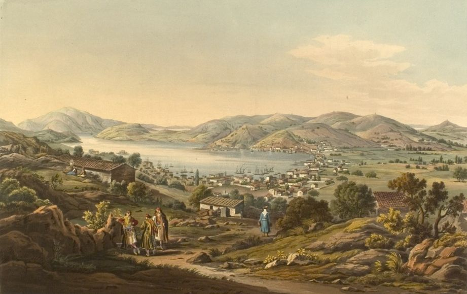 "Edward Dodwell, ""Port Bathy and Capital of Ithaca"", 1821"