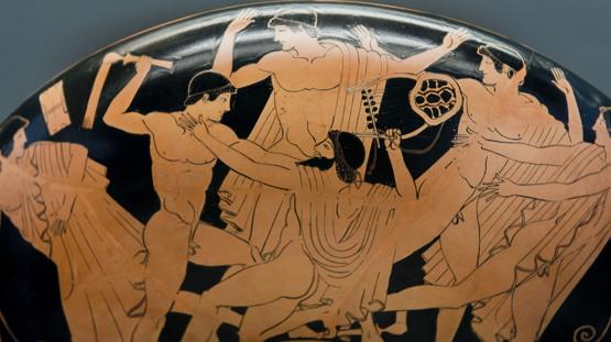 자신의 음악 선생님을 때려 죽이는 헤라클레스