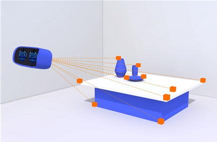독립형 가상현실 장치는 외부 카메라나 센서를 이용해 공간과 사물 위치를 추적하는 기술을 담고 있다.
