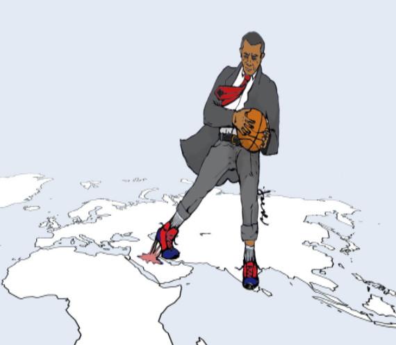 오바마는 미국의 세계 전략의 중심 지역을 아시아 태평양 지역으로 옮기려고 했지만, 이는 쉽지 않았다. (출처: POSTNITO.CZ) http://postnito.cz/the-pivot-to-asia/