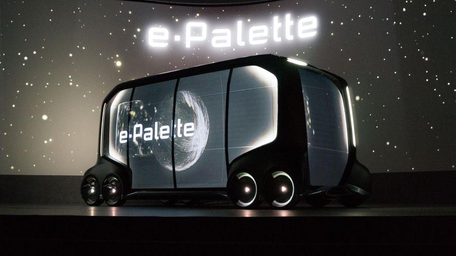 도요타가 발표한 자율 주행 콘셉트 차량 '이-팔레트'