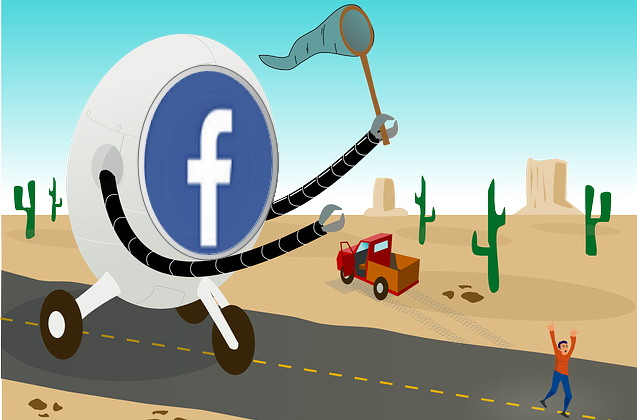 페이스북은 페이스북을 쓰지 않는 비이용자까지 '추적'한다. (출처: 퍼블릭 도메인 이미지에 페이스북 이미지 합성)