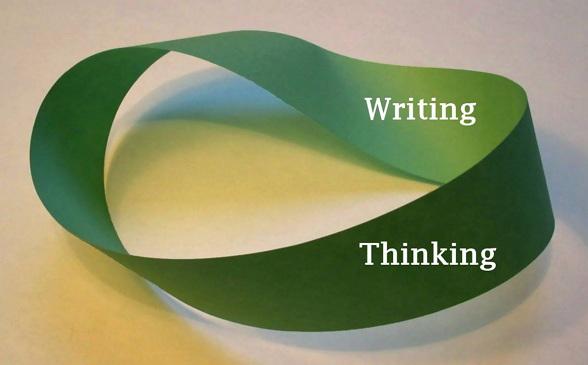 The Mobius strip of thinking and writing (출처: 위키미디어 공용, CC-BY-SA 3.0, Original by David Benbennick) https://en.wikipedia.org/wiki/M%C3%B6bius_strip