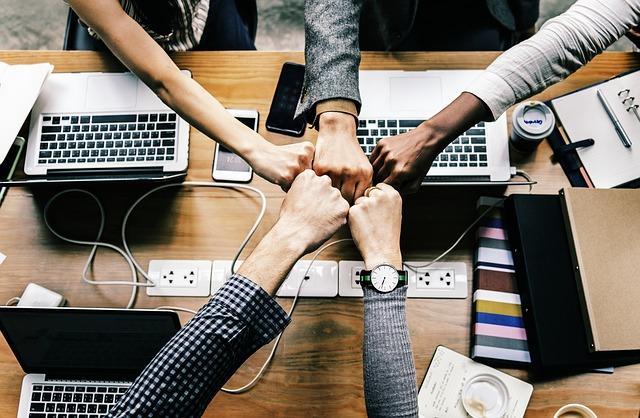 협력 화이팅 협조 단합 단체