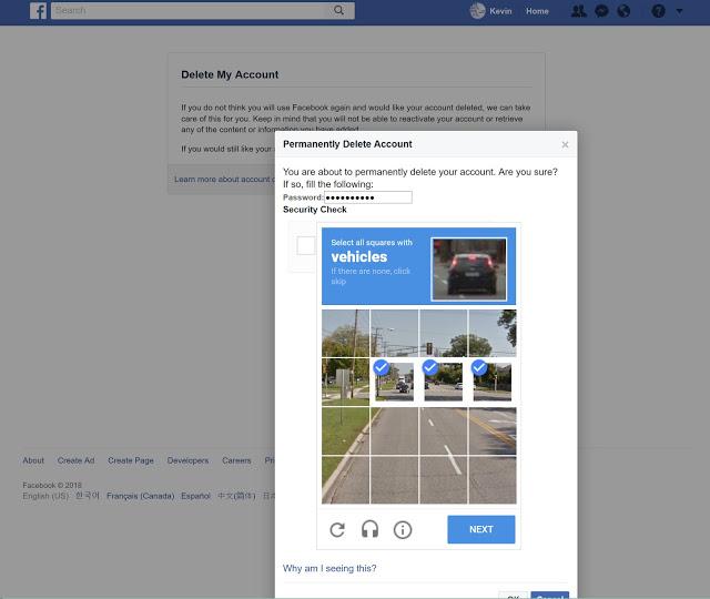 로봇이 장난 치는 것 아니냐며 이런 테스트를 두 번 노출시킨다. 내 경우는 사진에서 자동차가 포함된 패널들을 선택하라는 문제. '다음' 버튼을 누르면 다음과 같은 화면으로 이동한다.