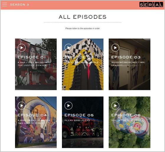 미국 젊은이들에게 폭발적인 인기를 얻고 있는 팟캐스트 시리즈 'Serial' https://serialpodcast.org/