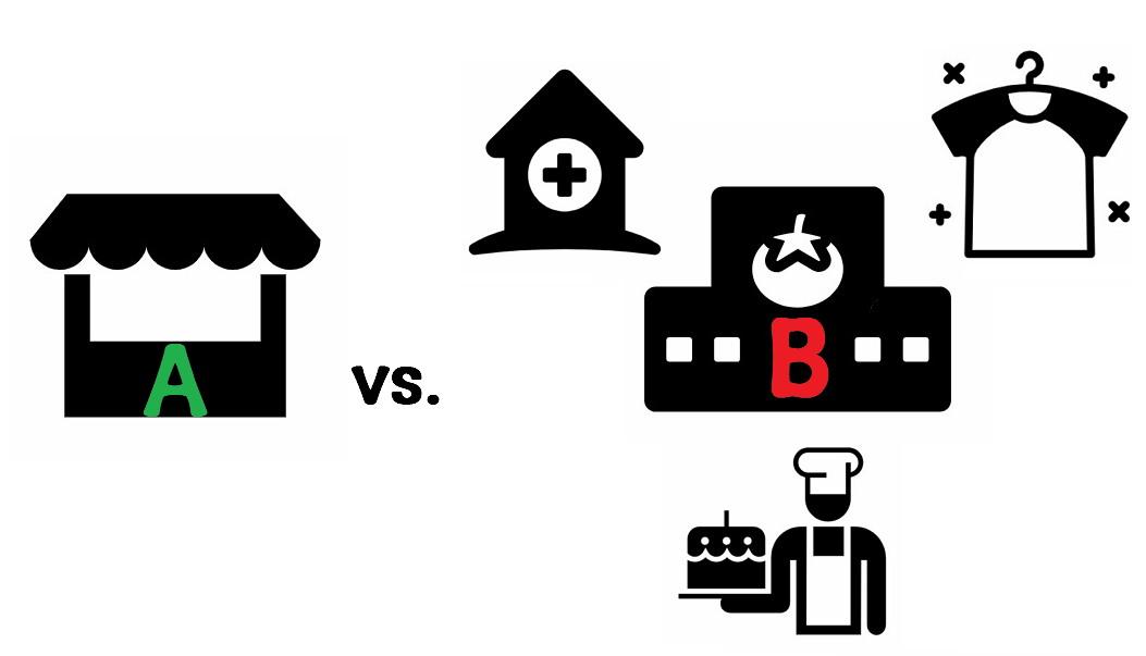 A슈퍼마켓 vs. B슈퍼마켓
