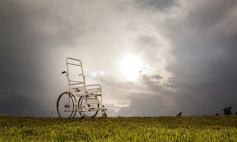 장애인 휠체어