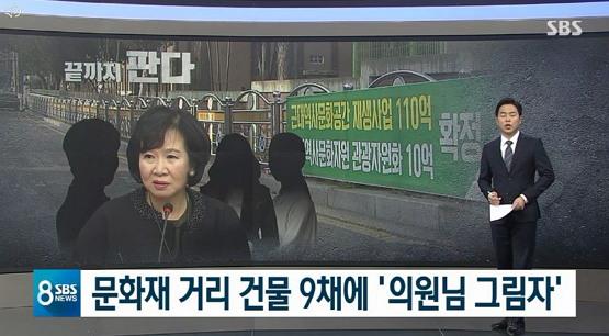 2019년 1월 15일 자 SBS 메인뉴스 보도화면 중에서