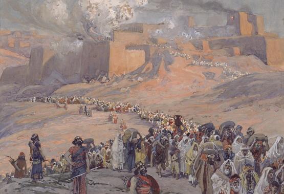 바빌론의 유수를 묘사한 제임스 티소의 '포로들의 대이동'(1896-1902 작)