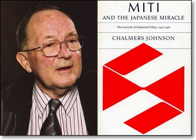 찰머스 존슨(1931~2010)과 그의 책 [통산성과 일본의 기적] (1982)