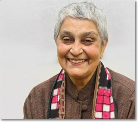 """가야트리 차크라보티 스피박(영어: Gayatri Chakravorty Spivak, 1942년 2월 24일~). 비교문학 교수이자 탈식민주의 페미니스트. 그의 논문 """"서발턴은 말할 수 있는가?(can subaltern speak)""""(1988)은 탈식민주의에 관한 논의를 폭발적으로 촉진하는 기념비적인 역할을 했다. (출처: 콜럼비아대학교) http://blogs.law.columbia.edu/foucault1313/2016/04/10/gayatri-chakravorty-spivak/"""