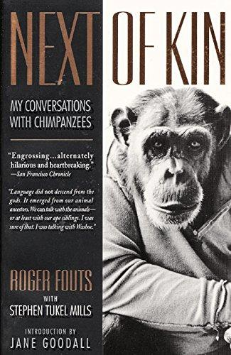 수어(手語)를 통해 인간과 최초로 소통한 침팬지 '워쇼' (사진은 영어본 표지)