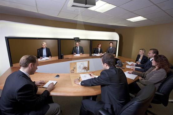 '셀링 비주얼라이저'를 이용한 온라인 비디오 웹 회의 (출처: Murray 1010, CC BY SA 3.0)