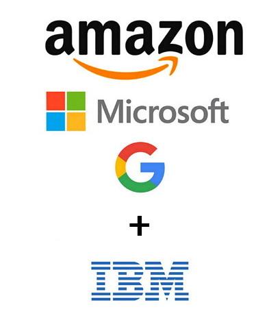 아마존 MS 구글의 3파전 그리고 굳이 넣는다면 IBM까지