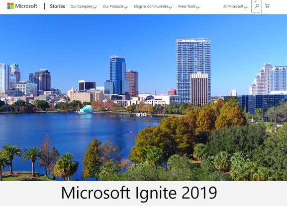 마이크로소프트 이그나이트 2019 https://news.microsoft.com/ignite2019/