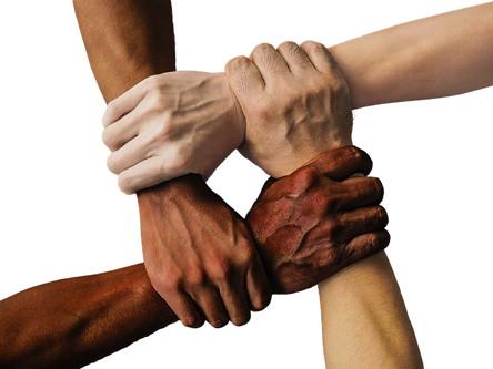 손 협력 화합 하모니 단결 인류 인간 휴머니즘