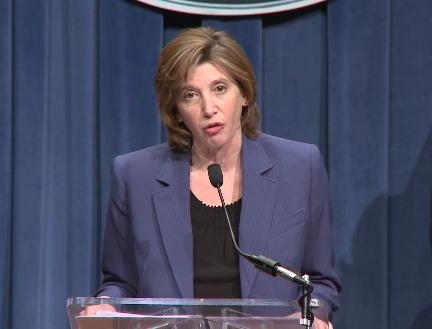 미 질병통제예방센터(CDC) 면역 및 호흡기 질환 센터 책임자 낸시 메소니어(Nancy Messonnier) (출처, 미보건복지부 HHS.gov) https://www.hhs.gov/about/leadership/secretary/speeches/2020-speeches/remarks-at-coronavirus-press-briefing.html