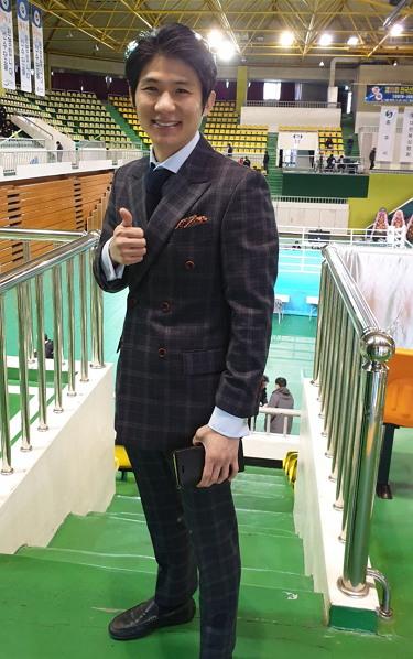 이옥선 코치. 2019년 도쿄 올림픽 최종선발전 경기 해설위원으로 참가 당시 모습.