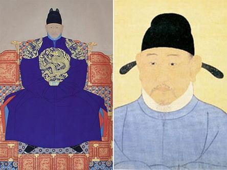 조선을 건국한 이성계(1335-1408, 왼쪽)와 그 아버지 이자춘은 고려보다 원나라에 더 가까운 사람이었고, 이성계의 의형제이자 개국공신 이지란(1331-1402)은 여진족 출신이었다.
