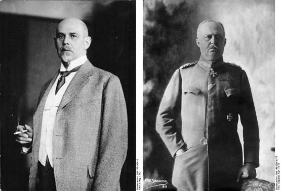 발터 라테나우(좌, 1921), 에리히 루덴도르프(1918)