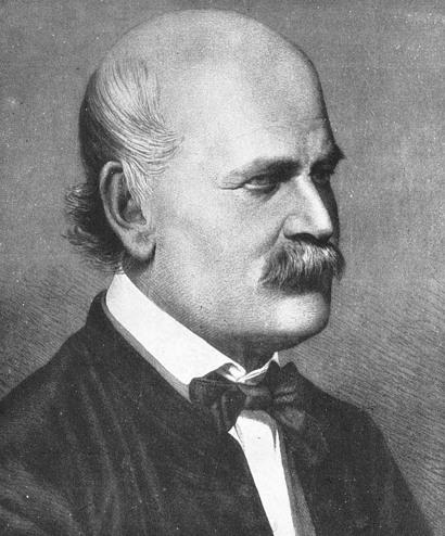 이그나스 젬멜바이스 (Ignaz_Semmelweis, 1860년경 모습, 퍼블릭 도메인)