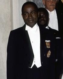 코트디부아르의 초대 총리·대통령을 역임한 펠릭스 우푸에부아니(Félix Houphouët-Boigny, 1905년 10월 18일 ~ 1993년 12월 7일, 퍼블릭 도메인)
