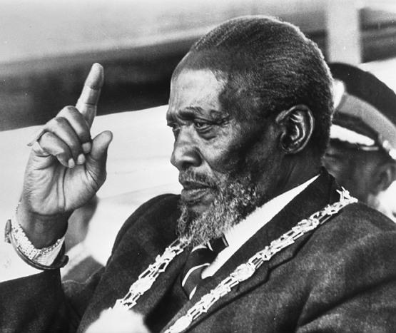 조모 케냐타, 그의 말년 모습 (1978, 출처: 위키미디어 공용) https://en.wikipedia.org/wiki/Jomo_Kenyatta#/media/File:Jomo_Kenyatta_1978.jpg