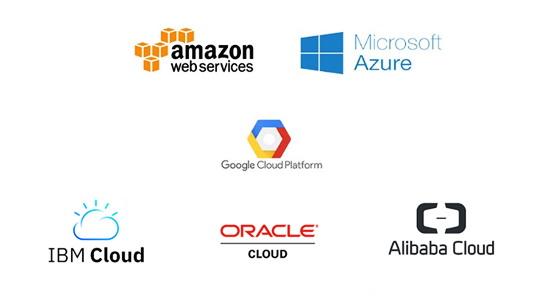 클라우드 아마존 마이크로소프트 구글 IBM 오라클 알리바바